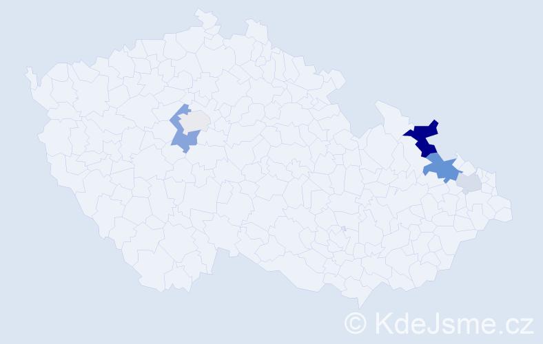 Příjmení: 'Buranyč', počet výskytů 11 v celé ČR