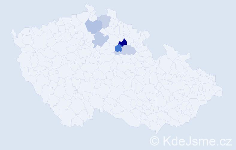 Příjmení: 'Enthalerová', počet výskytů 7 v celé ČR