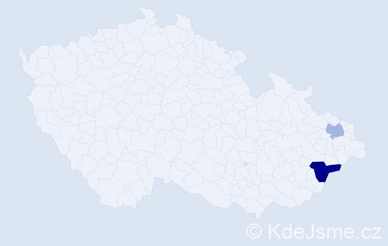 Příjmení: 'Larmerová', počet výskytů 3 v celé ČR