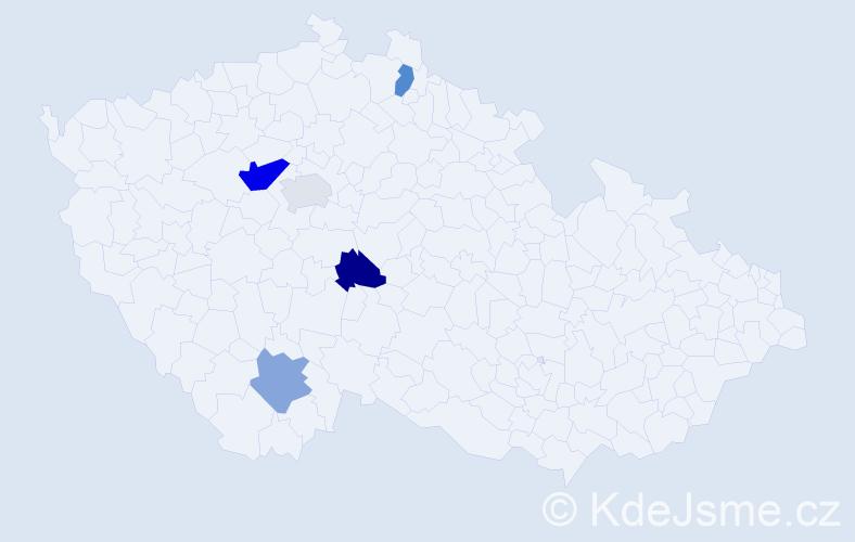 Příjmení: 'Čambulová', počet výskytů 7 v celé ČR