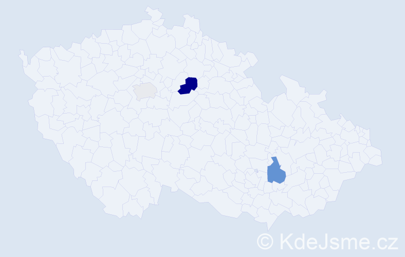 Příjmení: 'Ifka', počet výskytů 6 v celé ČR