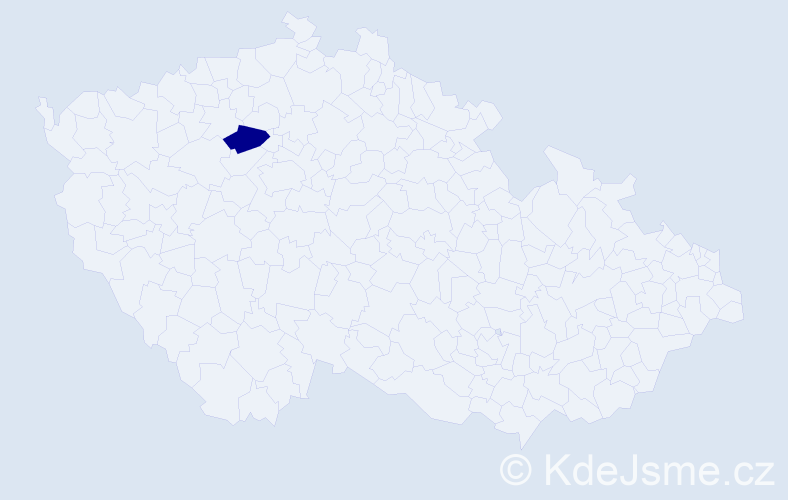 Příjmení: 'Hernando', počet výskytů 1 v celé ČR