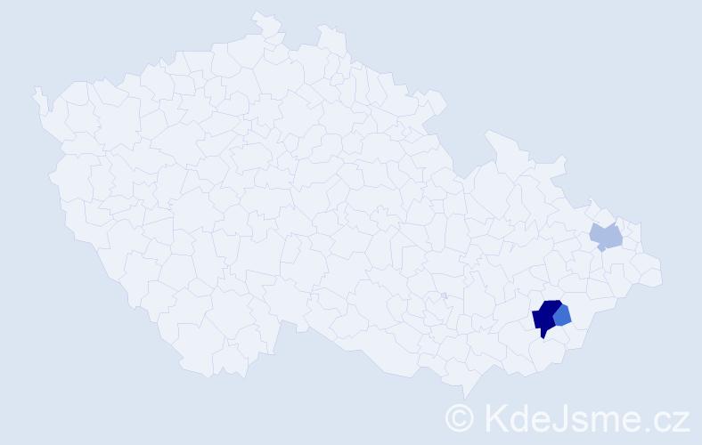 Příjmení: 'Lábsky', počet výskytů 13 v celé ČR