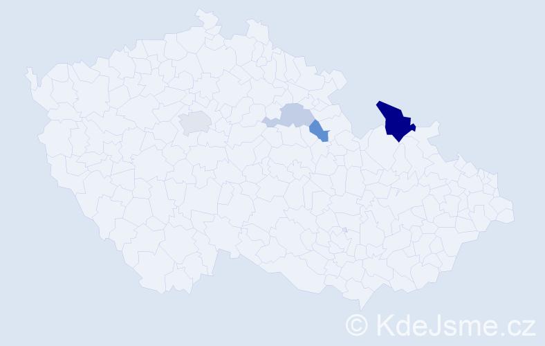 Příjmení: 'Černěnko', počet výskytů 8 v celé ČR