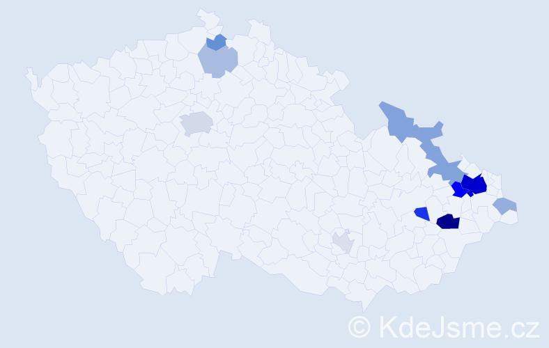 Příjmení: 'Figalová', počet výskytů 36 v celé ČR