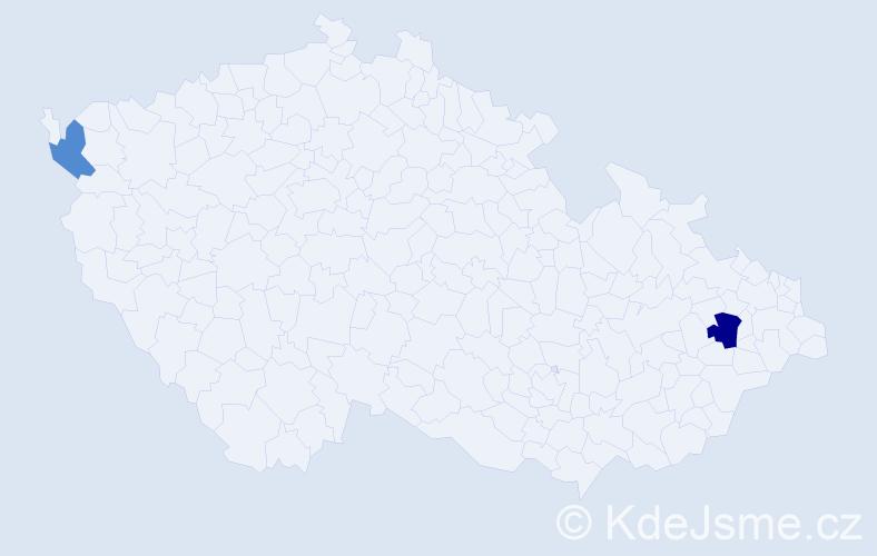 Příjmení: 'Akantis', počet výskytů 3 v celé ČR