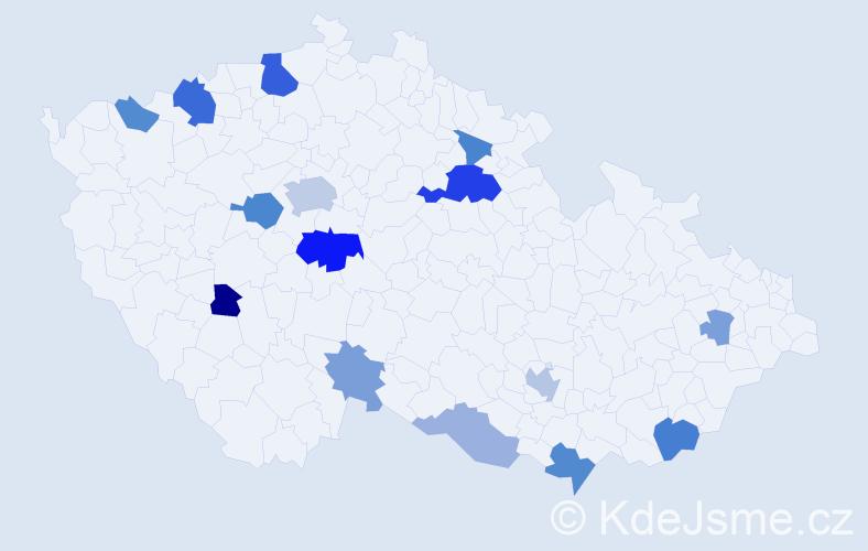 Příjmení: 'Jaegerová', počet výskytů 34 v celé ČR