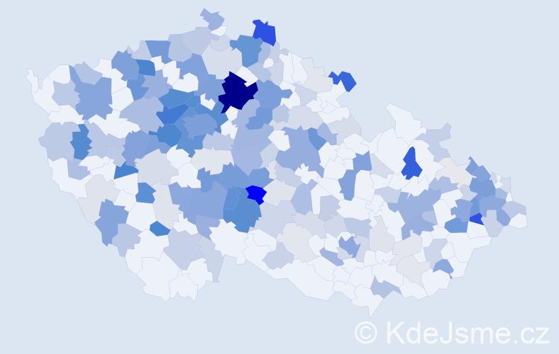 Příjmení: 'Keller', počet výskytů 700 v celé ČR