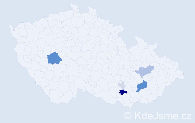 Příjmení: 'Čupalka', počet výskytů 8 v celé ČR