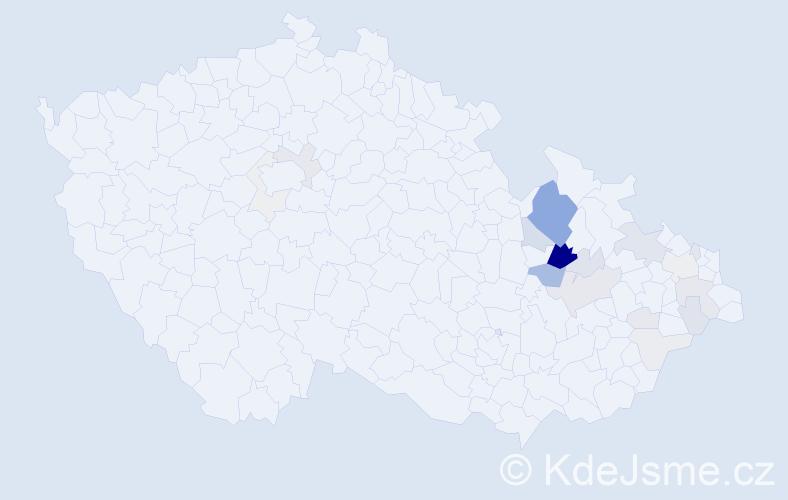 Příjmení: 'Kallerová', počet výskytů 66 v celé ČR