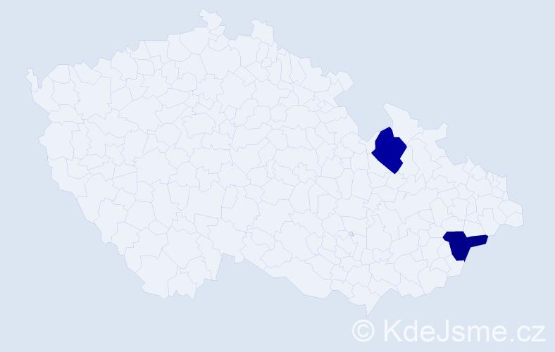 Příjmení: 'Ezechylová', počet výskytů 4 v celé ČR