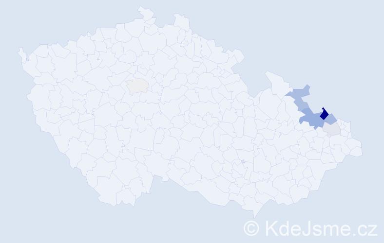 Příjmení: 'Jarkulischová', počet výskytů 20 v celé ČR