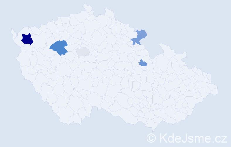 Příjmení: 'Endyšová', počet výskytů 34 v celé ČR