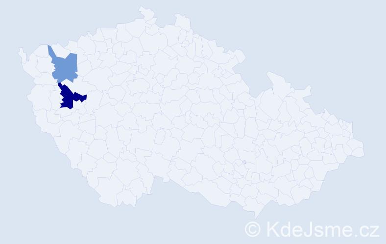 Příjmení: 'Fonta', počet výskytů 3 v celé ČR