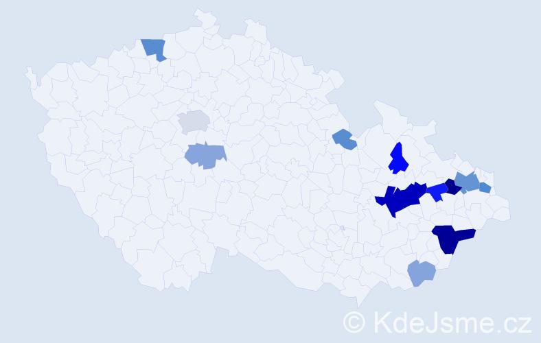 Příjmení: 'Glonek', počet výskytů 35 v celé ČR