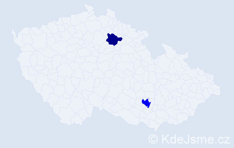 Příjmení: 'Jinks', počet výskytů 5 v celé ČR