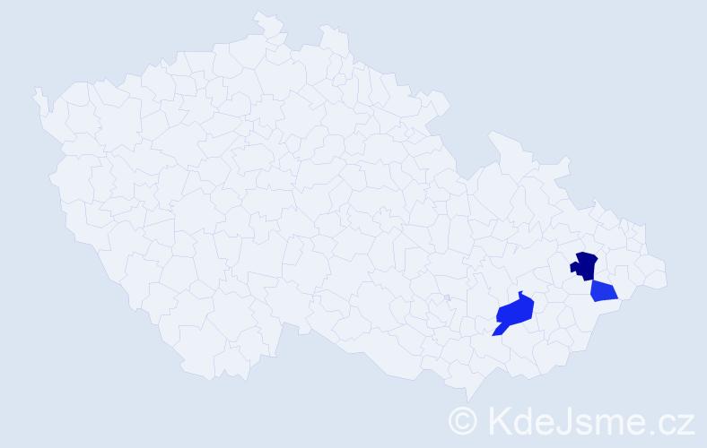 Příjmení: 'Laskafeld', počet výskytů 5 v celé ČR