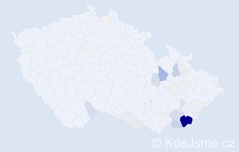 Příjmení: 'Stojaspal', počet výskytů 177 v celé ČR