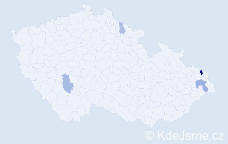 Příjmení: 'Habram', počet výskytů 15 v celé ČR