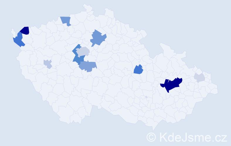 Příjmení: 'Lammel', počet výskytů 26 v celé ČR