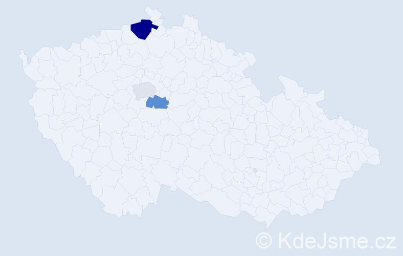 Příjmení: 'Éderová', počet výskytů 5 v celé ČR