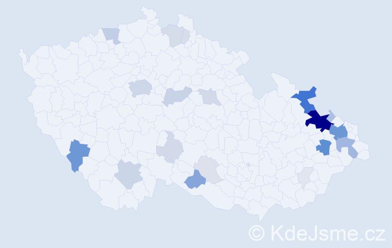 Příjmení: 'Bala', počet výskytů 113 v celé ČR