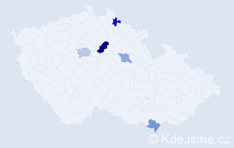 Příjmení: 'Chvala', počet výskytů 9 v celé ČR