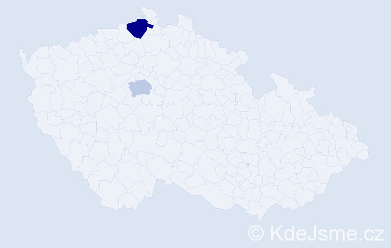 Příjmení: 'Amesmannová', počet výskytů 2 v celé ČR