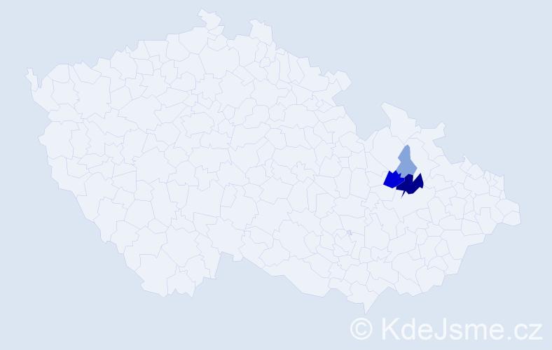 Příjmení: 'Gux', počet výskytů 12 v celé ČR