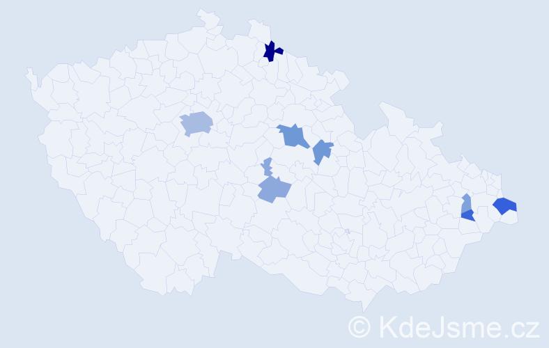 Příjmení: 'Korbut', počet výskytů 21 v celé ČR