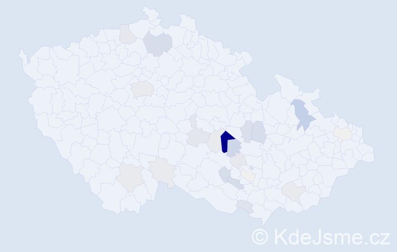 Příjmení: 'Jinek', počet výskytů 78 v celé ČR