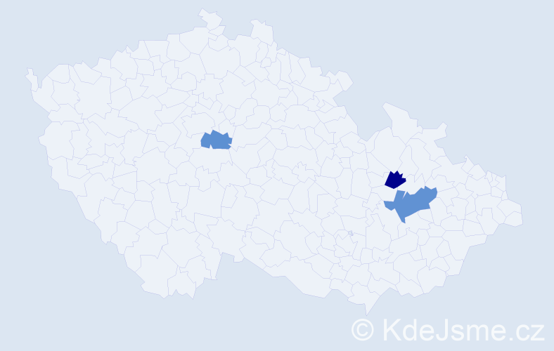 Příjmení: 'Dobrovítovský', počet výskytů 4 v celé ČR