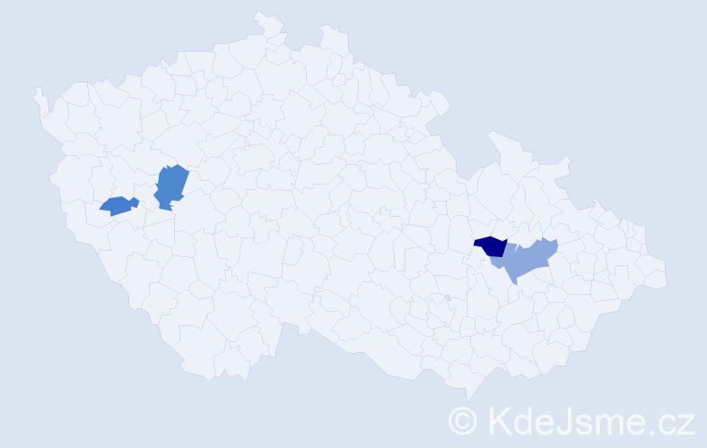Příjmení: 'Grantner', počet výskytů 7 v celé ČR