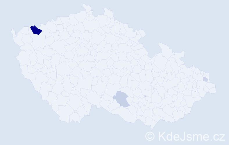 Příjmení: 'Fabišovský', počet výskytů 7 v celé ČR