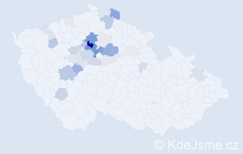 Příjmení: 'Čemus', počet výskytů 110 v celé ČR
