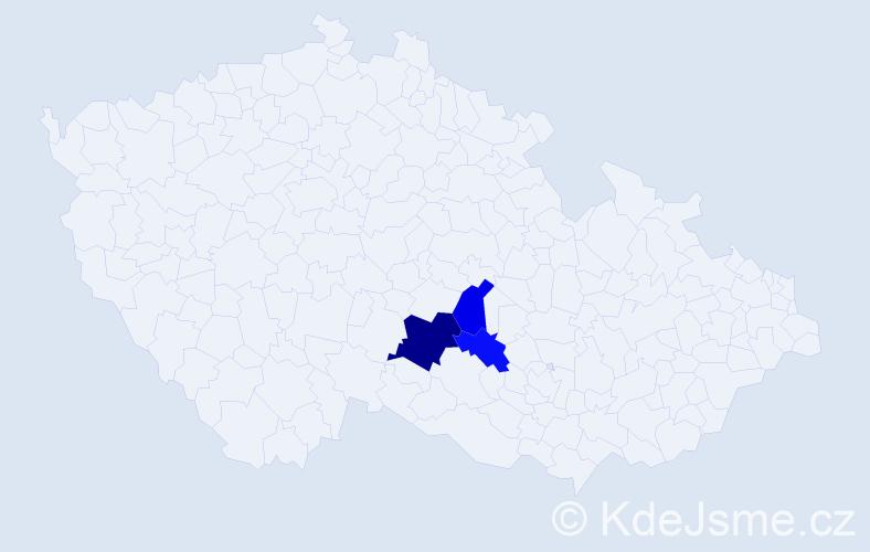Příjmení: 'Hintenaus', počet výskytů 16 v celé ČR