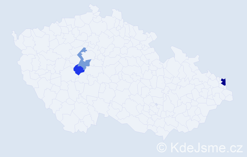 Příjmení: 'Cieślik', počet výskytů 8 v celé ČR