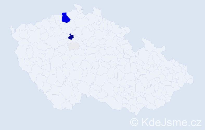 Příjmení: 'Jelačič', počet výskytů 12 v celé ČR