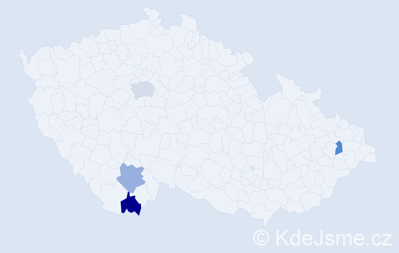 Příjmení: 'Compeľová', počet výskytů 5 v celé ČR