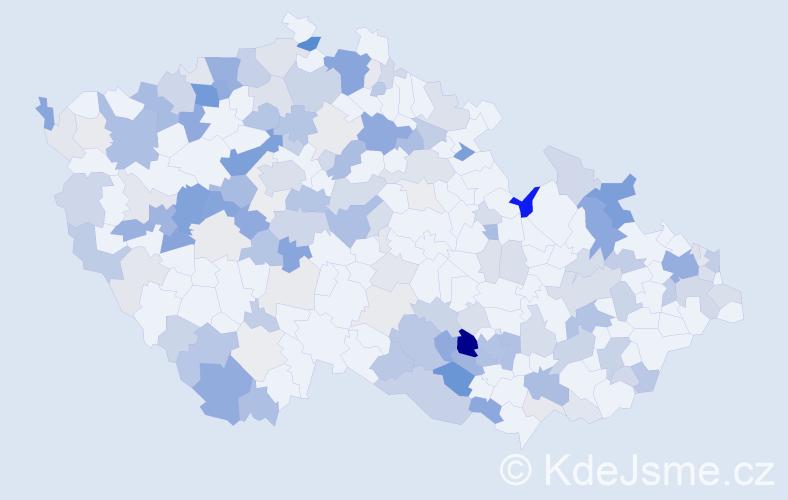 Příjmení: 'Hudecová', počet výskytů 461 v celé ČR