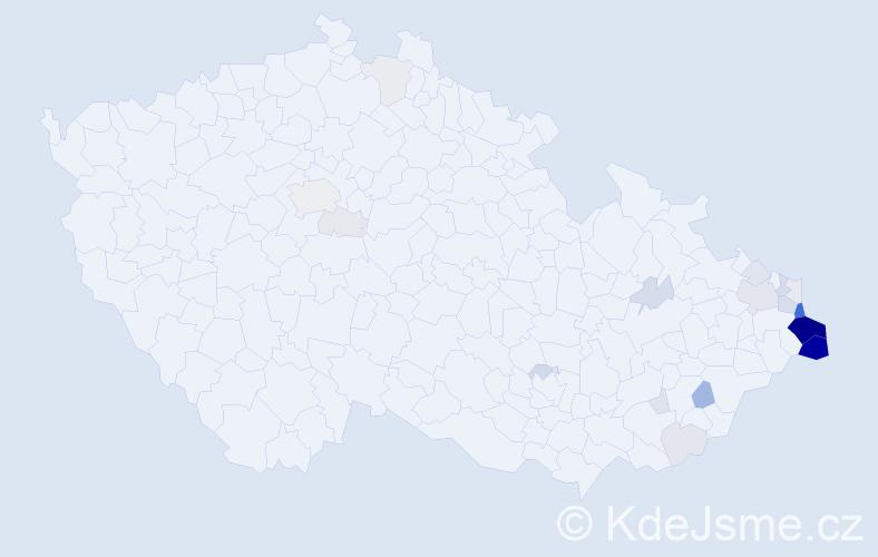 Příjmení: 'Kajfosz', počet výskytů 90 v celé ČR