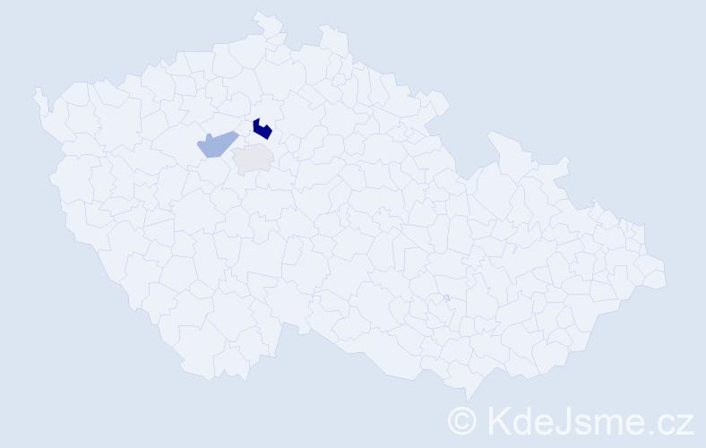 Příjmení: 'Černkovičová', počet výskytů 4 v celé ČR