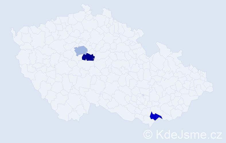 Příjmení: 'Ekeltová', počet výskytů 4 v celé ČR