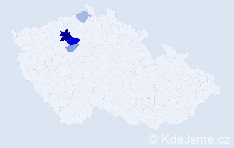 Příjmení: 'Lávicová', počet výskytů 10 v celé ČR