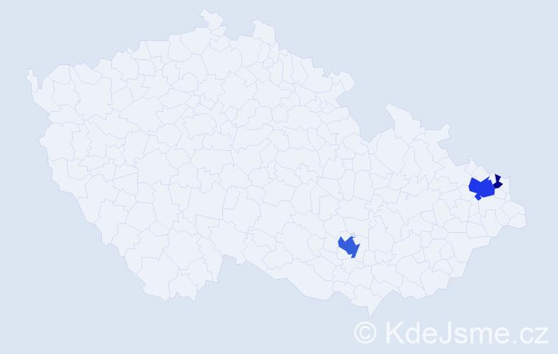 Příjmení: 'Holtzerová', počet výskytů 7 v celé ČR