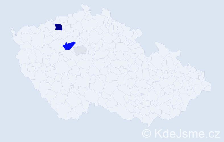 Příjmení: 'Hezl', počet výskytů 7 v celé ČR