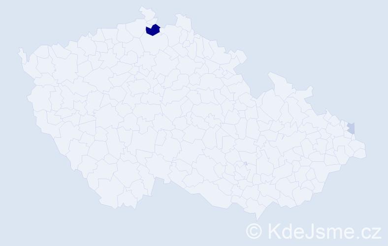 Příjmení: 'Dzieržawa', počet výskytů 5 v celé ČR