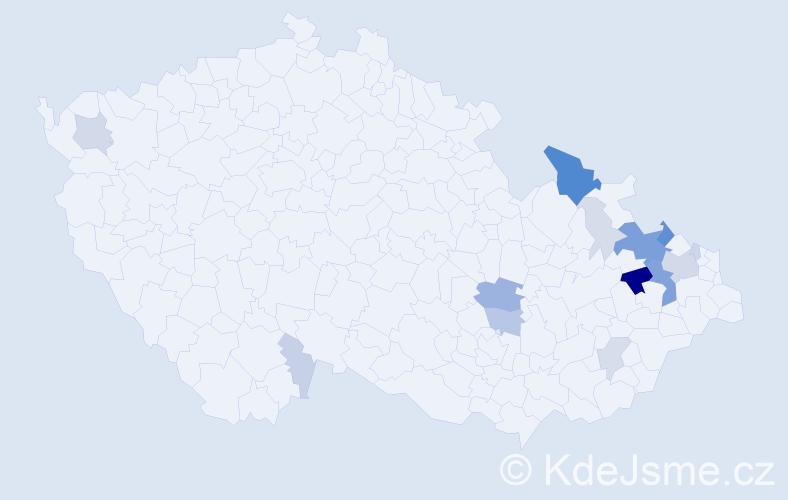 Příjmení: 'Feilhauerová', počet výskytů 60 v celé ČR