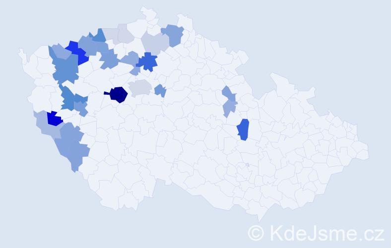Příjmení: 'Hasenöhrl', počet výskytů 73 v celé ČR