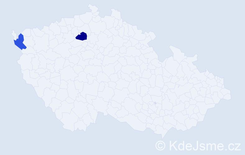 Příjmení: 'Čopko', počet výskytů 2 v celé ČR